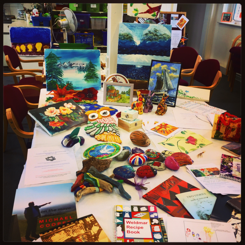 Creative therapy plays a part in palliative care.