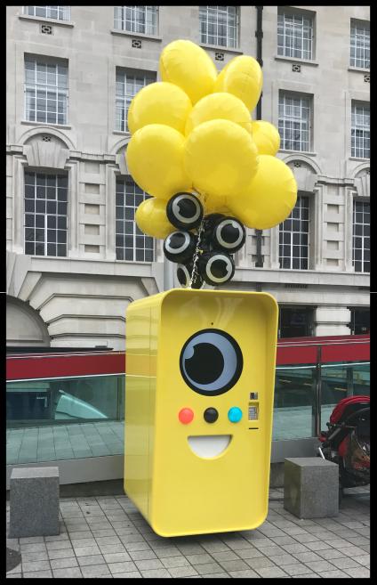 Snapchat vending machine London